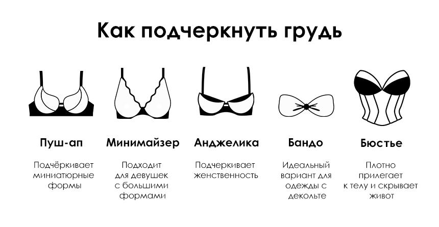 Как подчеркнуть грудь